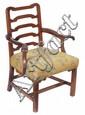 A George II mahogany armchair, circa 1750,