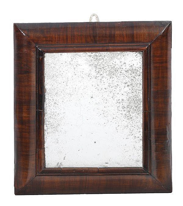 A Queen Anne walnut framed wall mirror, circa