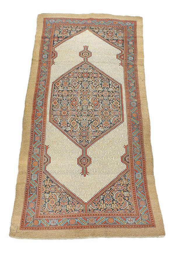 A Quashqai long rug, approximately 360cm x 153cm