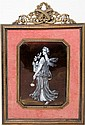 LIMOGES ENAMELED COPPER PLAQUE, SIGNED, LATE 19TH C., 4 3/4