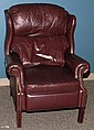 MAROON LEATHER RECLINER H 38