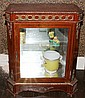 FRENCH STYLE MAHOGANY & INLAY VITRINE, H 40