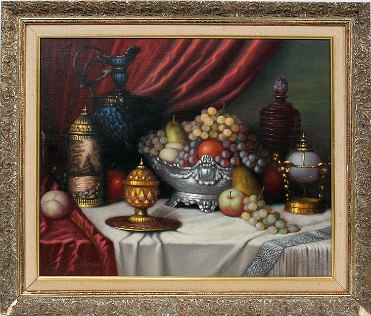 P. KLOTON [20TH C HUNGARY], OIL ON CANVAS, 24