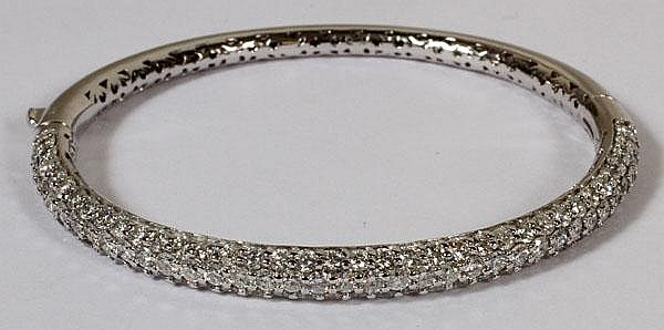 6.50CT DIAMOND &14KT GOLD BANGLE BRACELET