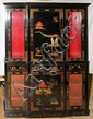 CHINOISERIE DESIGNED CHINA CABINET, H 74