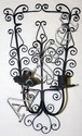 SPANISH IRON TWO-LIGHT SCONCE, H 17