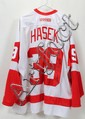 DOMINICK HASEK AUTOGRAPHED DETROIT RED WING JERSEY, C2004
