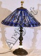 LEADED GLASS TABLE LAMP, H 24