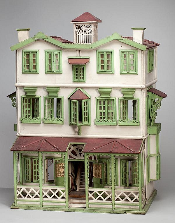 THREE STORY 19TH.C. DOLL HOUSE, H 41