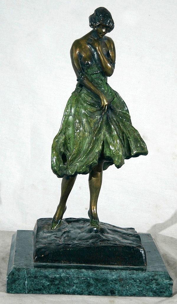 AFTER LOUIS ICART, BRONZE