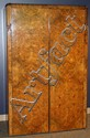ART DECO WALNUT ARMOIRE, H 77