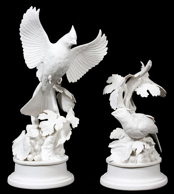 BOEHM PORCELAIN CARDINALS, TWO, H 11