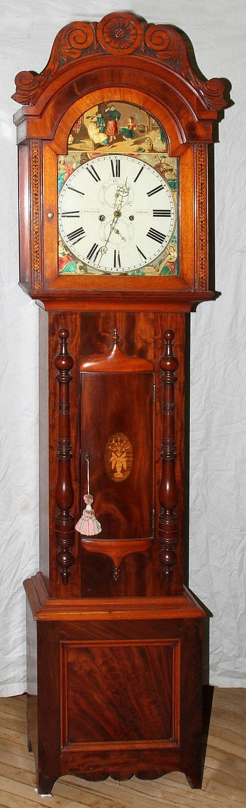R & A ALLAN, CUMNOCK, SCOTTISH MAHOGANY TALL CASE
