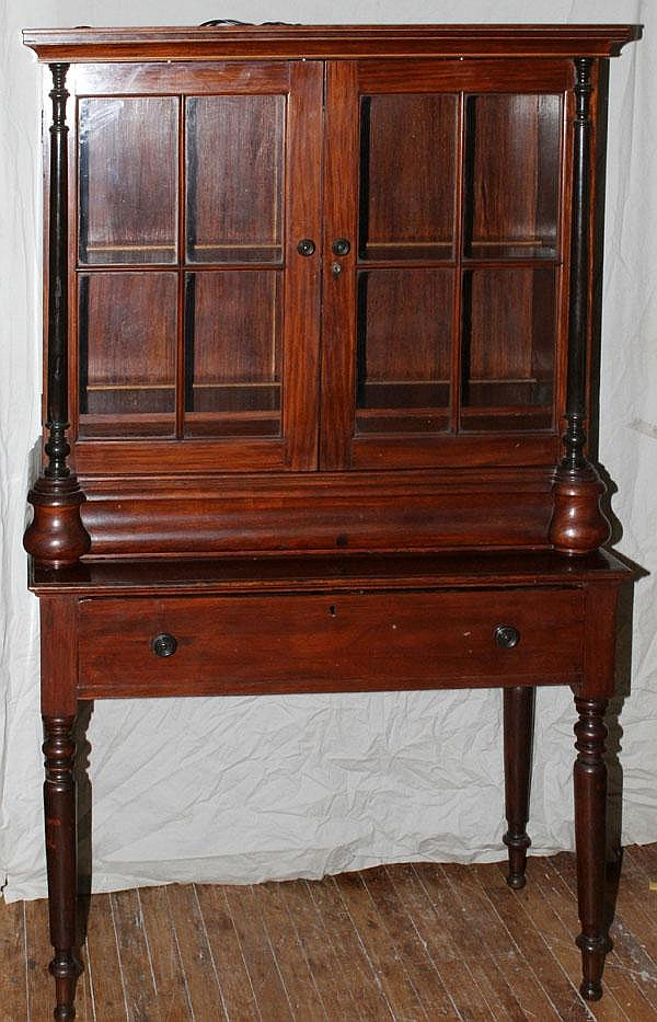 TWO-DOOR CHINA CABINET, 19TH.C, H 85