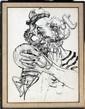 NOËL DAGGETT [AMERICAN 1925-2005], INK DRAWING,
