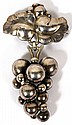 GEORG JENSEN STERLING GRAPE BROOCH, #217B