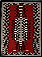 GANADO TRANSITIONAL WOOL NAVAJO RUG, 27