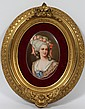 KPM HAND PAINTED PORCELAIN OVAL PLAQUE, 19TH C., 7