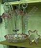 Victorian glass epergne centre piece with