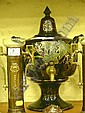 Victorian Jackfield type pedestal tea urn with