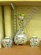 Garniture of three Royal Doulton 'Persian' vases