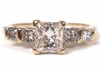 0.57ct Princess Diamond Ring