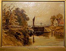G. APPLEFORD 19TH C BRITISH OIL ON CANVAS PAINTING