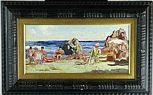 LIVORNO IMPRESIONIST OIL PAINTING STYLE OF LUSCHI