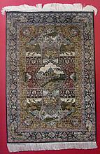EXCEPTIONAL SILK CHINESE HAND WOVEN RUG / CARPET