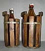 2 VINTAGE NORWEGIAN BREWERY BOTTLES & WOOD CASKS