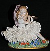 Sitzendorf porcelain Girl with Parasol Figurine