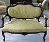 VICTORIAN ROCOCO REVIVAL SETTEE ROSES & SCROLLS