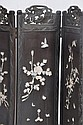 A 19th century Japanese laquer four fold screen