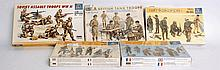 MODEL KITS: A selection of 5x military model kit troop sets - each by Italeri to include Arfika Korp