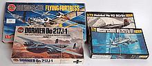 MODEL KITS: A collection of 4x original 1970's model kits of WWII planes, including Airfix B17Gm Air