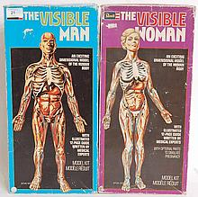 Two Revell model kits - Invisible Man & Invisible Woman, unmade, in original boxes.