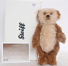 STEIFF; Coffee & Cream by Danbury Mint Steiff teddy bear, complete with original box and certificate