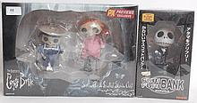 TIM BURTON: A Jun Planning Corpse Bride ' Skeleton Girl & Skeleton Child' boxed set of figures (unop