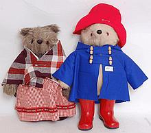 BEARS; Two original Gabrielle Designs Paddington Bear & Aunt Lucy teddy bears - both with original c