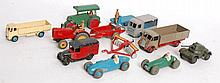 DINKY; A collection of assorted vintage Dinky diecast models and vehicles to include; Express Dairy