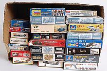 MODEL KITS: 23x plastic model kits - Dragon, Italeri, Revell, Zvezda, ERTL etc.  From a large consig