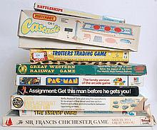 BOARD GAMES: A collection of original vintage board games to include; Battleships, Matchbox Cascade,