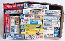 MODEL KITS: A collection of 19x model kits - Hobby, Boss, Ace, Academy, Dragon, Italeri etc.  From a