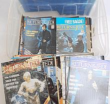 STAR WARS; A large quantity of original vintage Star Wars magazines. Likely 150+