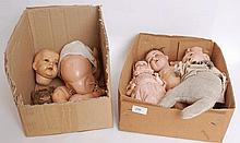 DOLLS: A collection of vintage and antique dolls - each AF - including A&M;, German examples etc.