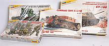 MODEL KITS: 4x Zvezda 1:35 scale 1970's military model kits - including a Soviet assault group, sovi