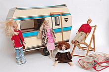 A large collection of vintage Sindy dolls house furnishings / accessories, together with an original