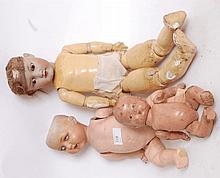 DOLLS: three vintage dolls to include an Armand Marseille 995, and 590, along with another.