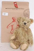 STEIFF; 000713 gift boxed stuffed teddy bear, complete with original box and certificate etc, retain