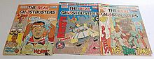GHOSTBUSTERS: A collection of three vintage The Real Ghostbusters magazines / comic books to include